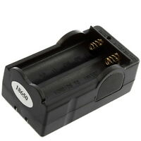NEW Battery Charger for 18650 Rechargeable Li-Ion 3.6V 3.7V POWERFUL BLACK Q#