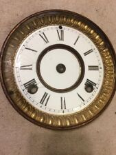 WATERBURY IRON CASE MANTLE CLOCK ENAMEL DIAL & BEZEL WITH GLASS