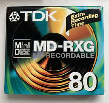 A TDK MD-RXG 80 BLANK RECORDABLE MINIDISC NEW & SEALED FREEPOST