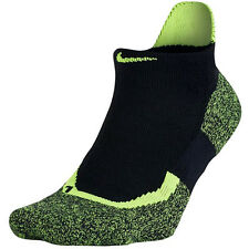 Nike Dri-Fit Elite Tennis No Show Socks Black/Volt SX4987-011 Sz L 8-12