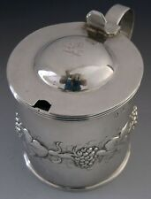 RARE CORK IRISH PROVINCIAL STERLING SILVER CRESTED MUSTARD POT 1837 ANTIQUE 130g