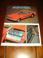 1968 FORD MUSTANG GAS RHONDA DRAG RACE CAR  ***ORIGINAL 1968 ARTICLE***