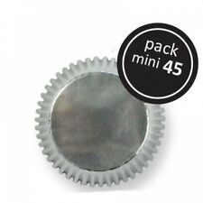 45 Mini Cupcake Cases Baking Muffin Gâteau petits fours feuille argent
