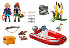 Playmobil 5559 Schlauchboot mit Wilderern Spielzeug Set