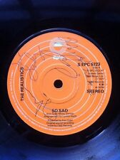 "The Realistics - So Sad 7"" Vinyl Autographed By The Band Members In 1977"