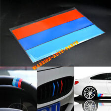"10"" M-Colored Stripe Sticker Decal For BMW Exterior or Interior Decoration NEW A"