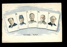 Political politics Military leaders WW1 cards NAP satirical PPC 1915 by Sharpe