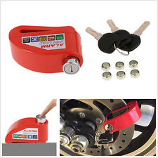 Metal Motorcycles Scooter Anti-theft Wheel Disc Brake Lock Alerting Security Kit