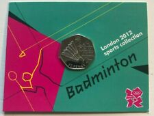 2011 50P FIFTY PENCE OLYMPIC GAMES BADMINTON UNCIRCULATED - ROYAL MINT