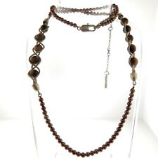 Kenneth Cole Tiger Eye Pearl Bead Neckace Strand 10mm 29""