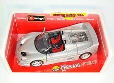Ferrari f50 f 50 Spider Pininfarina 1995-plata Silver-Bburago 3372 1:18