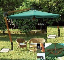 Ombrellone in legno Verde  3x4 professionale  arredo giardino Quen