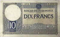 MAROC - 10 FRANCS (6.3.1941) - Billet de banque (B)