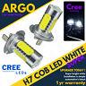 H7 Canbus Error Free Cob Cree Led Smd Super Bright White Headlight Bulbs Hid 12v