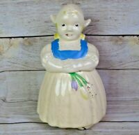 Vintage Ludowici Celadon Pottery Holland Dutch Girl Cookie Jar 1930s-1940s