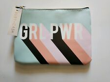 Ruby+Cash Glam Essentials Flat Pouch Blue Clutch Makeup Bag