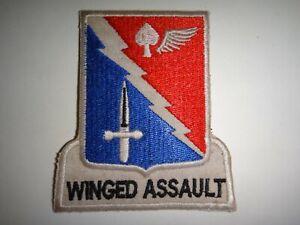 US 229th Aviation Battalion ASSAULT Helicopter WINGED ASSAULT Vietnam War Patch