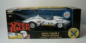 SPEED RACER Mach 5 RACER X 35th Anniversary Special Edition 1/18 Die Cast Metal