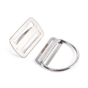 Steel Diving Weight Belt Slide Keeper D Ring Belt Retainer BCD AccessoiresY^BI