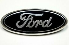 FORD black 7 Inch Front Grille Tailgate Emblem, 3D Oval 3M Double Side Adhesive