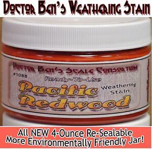 Pacific Redwood Weathering Stain-Doctor Ben's Wood Plastic Metal Resin dio7731