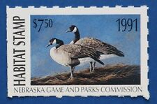 Nebraska Hunting US Back Of Book Duck Stamps For Sale