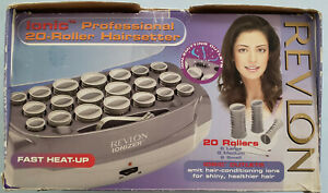 Revlon RV261 Ionic Hair setter 20 Hot Hair Curlers Rollers Pins Pageants Cheer