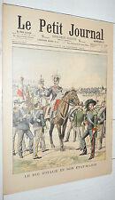 PETIT JOURNAL 1903 VICTOR-EMMANUEL III ITALIE / AFRIQUE NAUFRAGE AMIRAL-GUEYDON