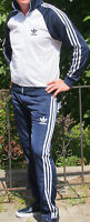Classical Vintage ADIDAS track-suit 80s model WHITE top Blue pants retro