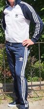 Classical Vintage ADIDAS track-suit 80s model WHITE top Blue pants retro