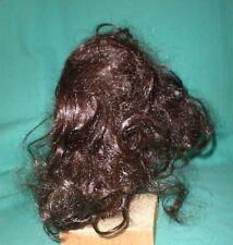 """Dark brown Glorex doll wig, 9.5"""" to 10"""", Switzerland"""