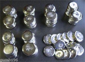 1/2 Pound TIN metal ROUND ingots 99.97% pure element Bullion Ingot 226.8+ gms lb