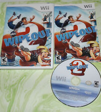 COMPLETE! *US SELLER* ABC Wipeout 2 ~ Nintendo Wii ~ PARTY GAME!
