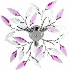 Deckenleuchte Deckenlampe Lampen Blätter Lila/Transparent Wohnzimmer Esszimmer