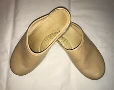 ANNA by Swedish Clogs, Tan Leather Open Back Comfort Clogs, EU 38; US 7.5M