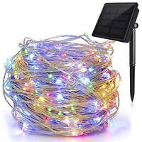 100 Led Solar Power Fairy Light String Lamp Party Xmas Deco Garden Outdoor Sport