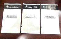 Nintendo Gamecube Precautions Booklet Manual Lot of 3 OEM Original Authentic!