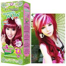 WOW Hair Color Permanent Hair Cream Dye Cosplay Toner Punk Emo Goth Magenta Pink