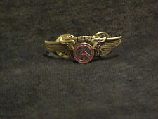 PINK PEACE SIGN WINGS PIN