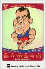 2011 AFL Teamcoach Cards Star Wild SW2 Ashley McGrath (Brisbane)