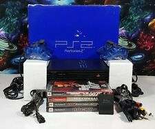 Sony PlayStation 2 PS2 Fat Black Console 2 Controllers 4 Games In Original Box