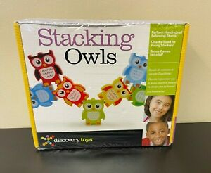 Discovery Toys Stacking Owls - Wood Blocks - Balancing Challenges Games Numbers