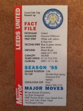 Premier League Leeds United Football Trading Cards & Stickers (Season 1996