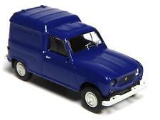 H0 BREKINA Personenkraftwagen Renault R 4 Fourgonnette saphirblau grau # 14728