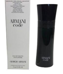 New in Box Armani Code by Giorgio Armani Men's EDT Spray 2.5 oz TSTR