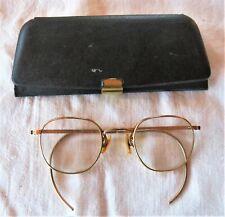 Vintage American Optical Rim Gold Filled Frame Eyeglasses Glasses 12K Gf w/ Case