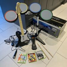 Beatles Rock Band Drum Kit, Guitar & Mic Bundle (Xbox 360) + 3 Games - Boxed