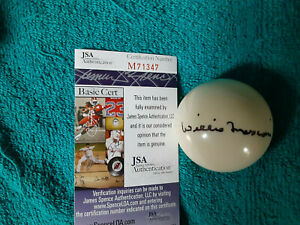 Pool Shark Willie Mosconi autographed Que  pool ball JSA Certified