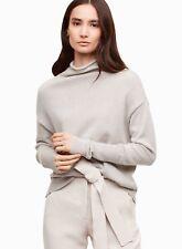 NWOT Aritzia WILFRED Birch CYPRIE Light Grey Wool Mock Neck Sweater Size S