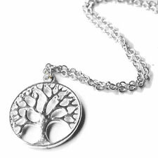 Ladies Silver Tree of Life Pendant Necklace Jewellery Jewelry Chain Gift Mother